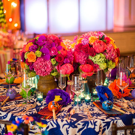 Table set up with Spanish theme