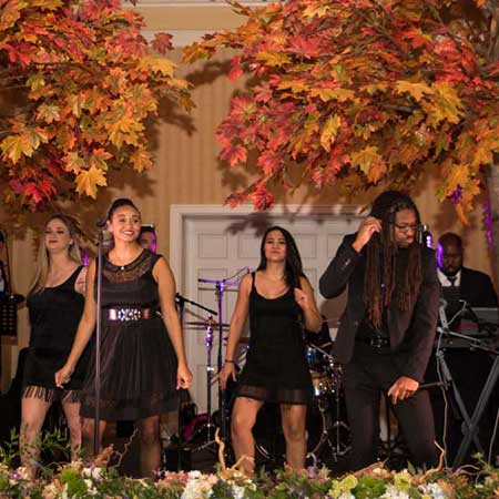 Girls singers on stage